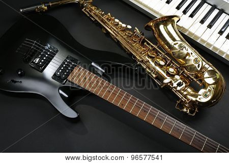 Musical instruments, closeup