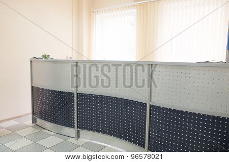 The image of a reception table