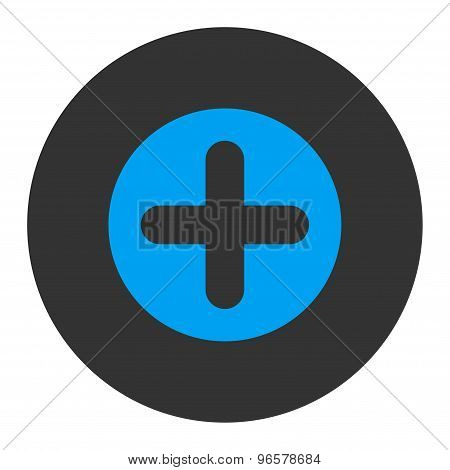Create flat blue and gray colors round button