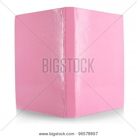 Pink book isolated on white