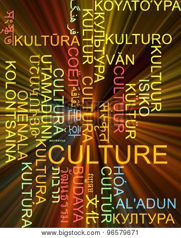 Background concept wordcloud multilanguage international many language illustration of culture glowing light