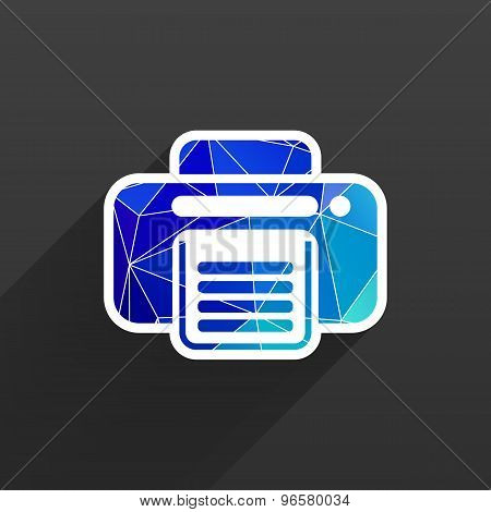 fax icon vector design printer document print