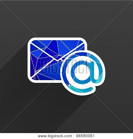 illustration email  icon outbox flat box inbox