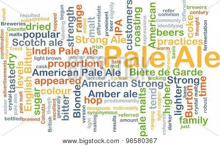 Background concept wordcloud illustration of pale ale
