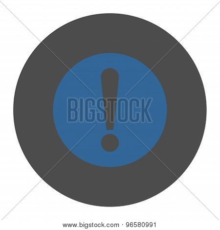 Problem flat cobalt and gray colors round button