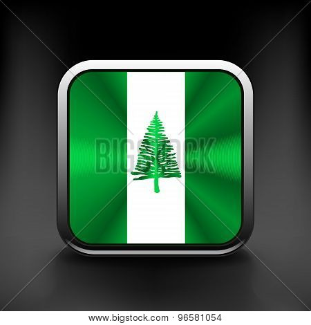 Flag  of the country  norfolk island. Vector illustration