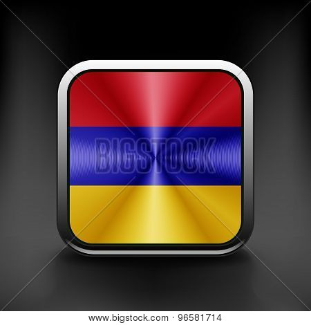 Armenia icon flag national travel icon country symbol button