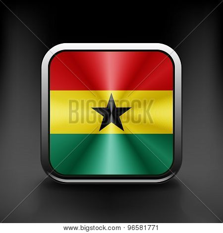 Ghana icon flag national travel icon country symbol button