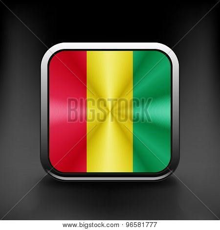 Guinea icon flag national travel icon country symbol button