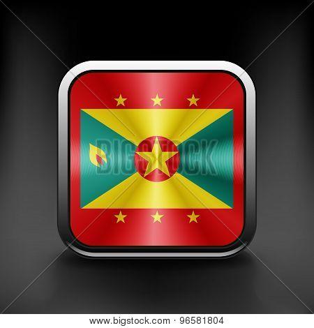 Grenada icon flag national travel icon country symbol button