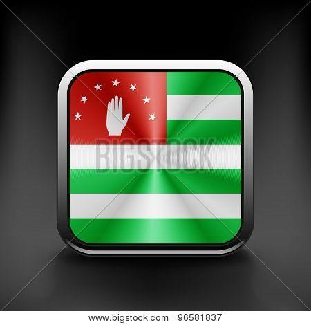 Abkhazia icon flag national travel icon country symbol button
