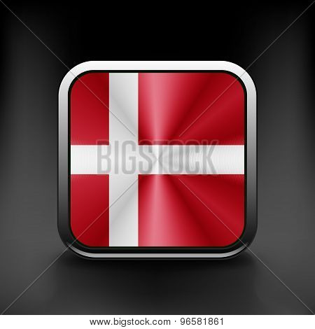 Denmark icon flag national travel icon country symbol button