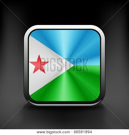 Djibouti icon flag national travel icon country symbol button
