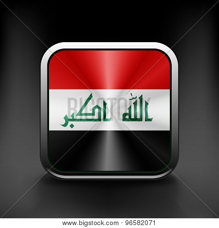 Iraq icon flag national travel icon country symbol button