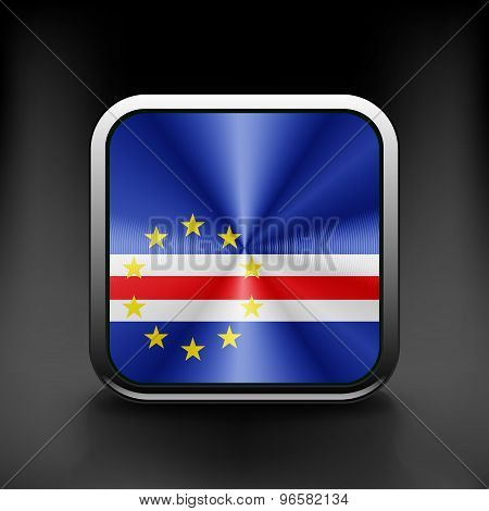 Cape Verde icon flag national travel icon country symbol button