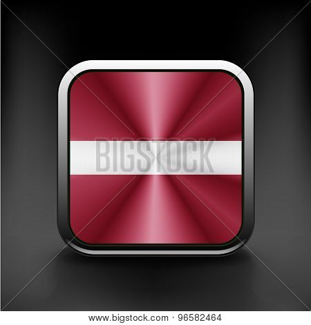 Latvia flag button icon country national