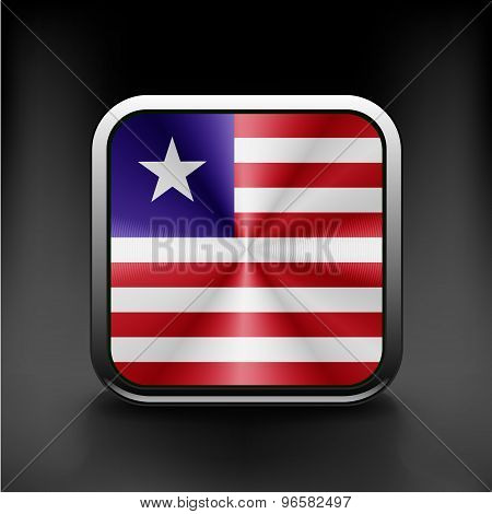 Flag of Liberia. Vector. Accurate dimensions