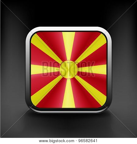 Raster version. Flag of Macedonia glossy icon