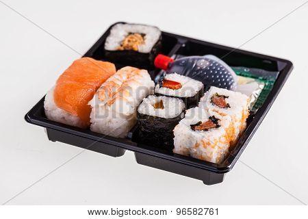 Isolated Sushi Box