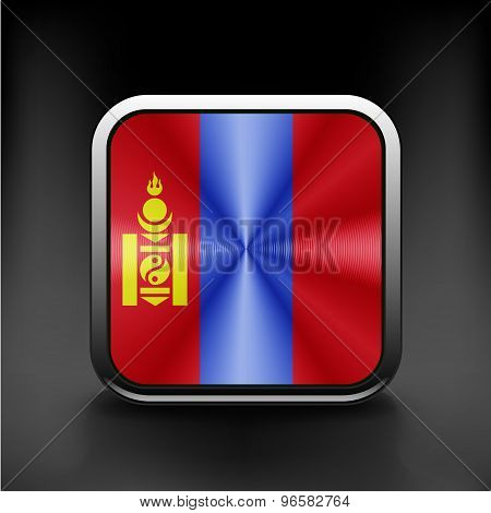 Flag Mongolia. Vector. Accurate dimensions