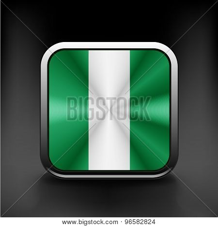 flag of Nigeria national travel icon country symbol