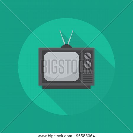 Technology Flat Icon. Television