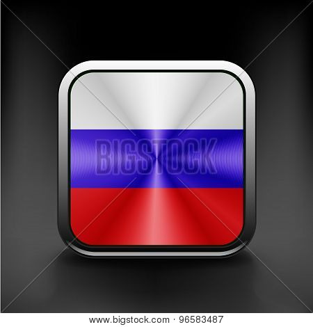 Russia flag national travel icon country symbol button