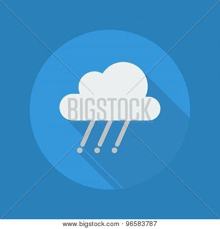 Weather Flat Icon. Rainy