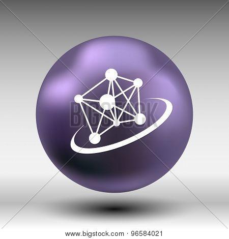 Molecule icon atom chemistry vector symbol element