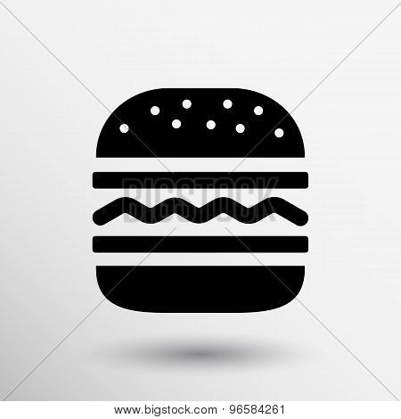 Hamburger web icon burger vector bun logo