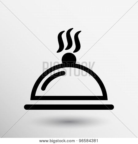 Food platter serving sign icon logo food tableware