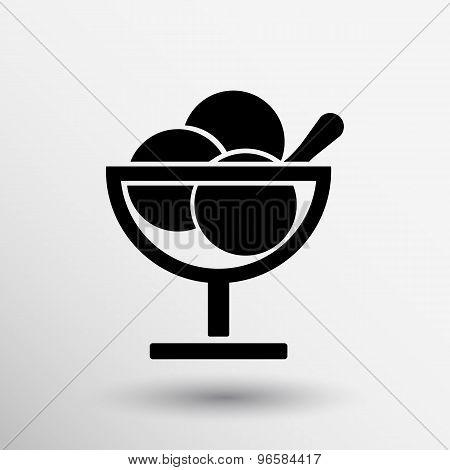 Logo with three balls ice cream food
