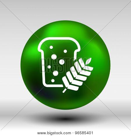 bread ornate design background logo grain meal bun
