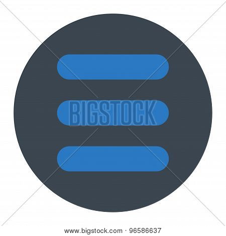Stack flat smooth blue colors round button