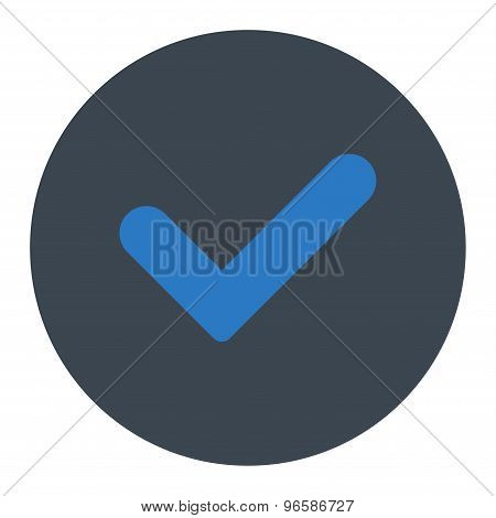 Yes flat smooth blue colors round button