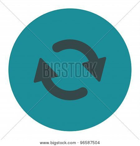 Refresh flat soft blue colors round button