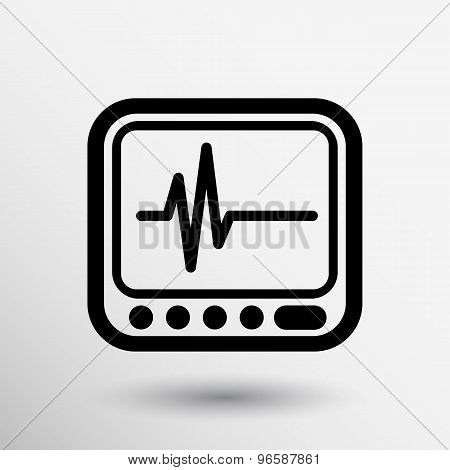 Vector Display with Cardiogram Icon
