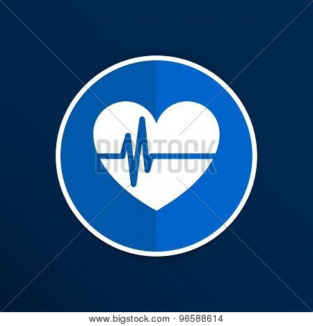 Heartbeat. Echocardiography. Cardiac exam Form heart heartbeat