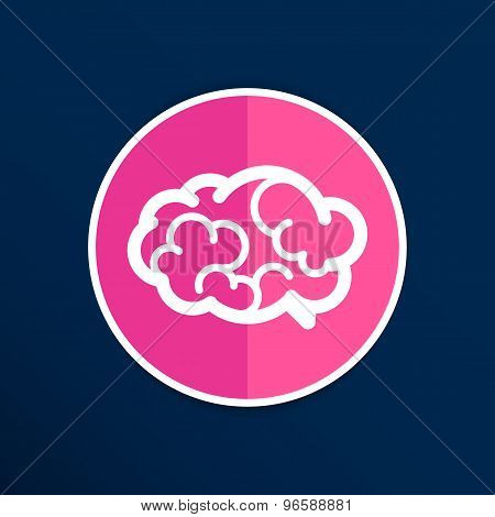 Brain icon mind vector medical brainstorm head human