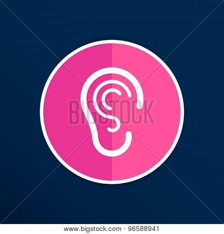 ear icon listen vector hear deaf human sign