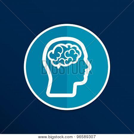 Head brain icon think design over vector illustration