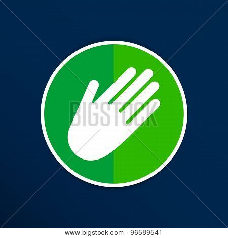 Hand vector icon palm symbol graphic sign line