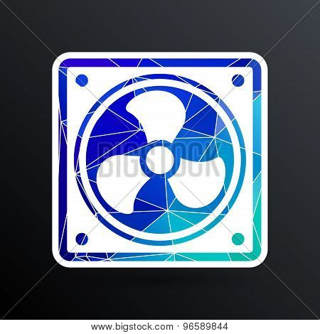 fan icon airflow cooling cooler confusing manual cold