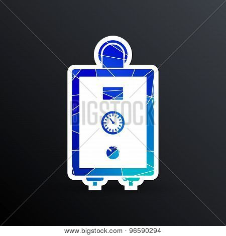 boiler gas icon water symbol household equipment