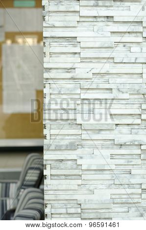 Brick Wall,marble Stone Pole