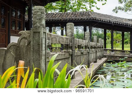 Atmosphere of Chinese garden.