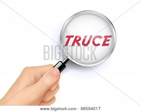 Truce Showing Through Magnifying Glass