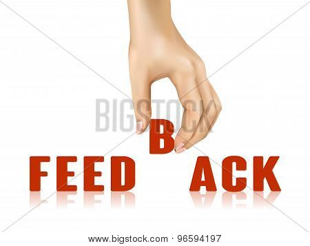 Feedback Word Taken Away By Hand