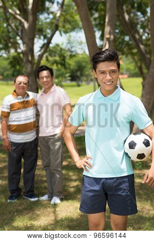 Teenager With Soccer Ball