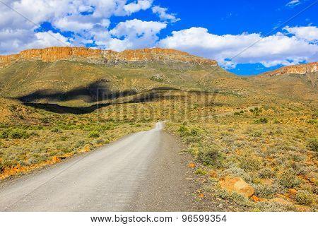 African gravel road